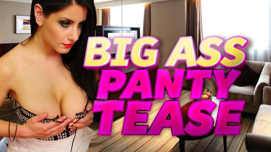 Big Ass Black Panty Tease