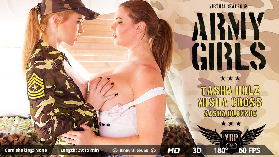 Army girls VR Porn