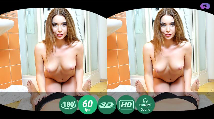 Clean cutie rides a dick VR Porn
