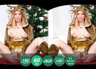 New Year's striptease VR Porn