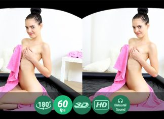 Wet babe orgasms brightly VR Porn