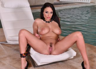A Carnal Spa Visit: Busty French Milf Fingers Her Wet Pussy