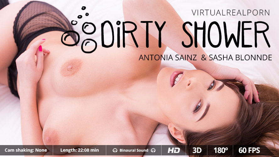 Dirty shower VR Porn
