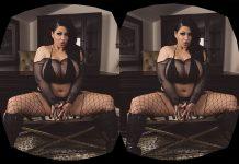 Black Lingerie JOI Strip Tease VR Porn