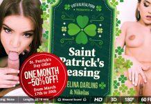 Saint Patrick's teasing VR Porn