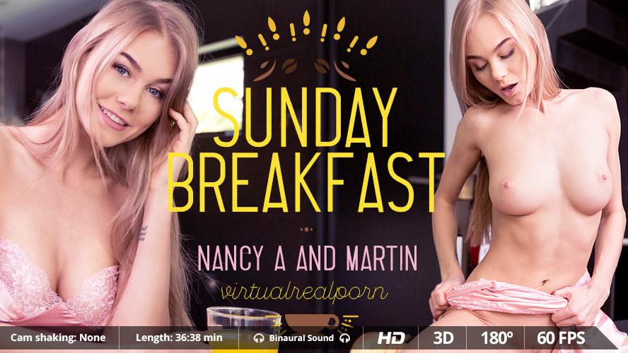 Sunday breakfast VR Porn