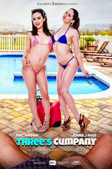Lily Jordan & Jenna J Ross In Three's Cumpany