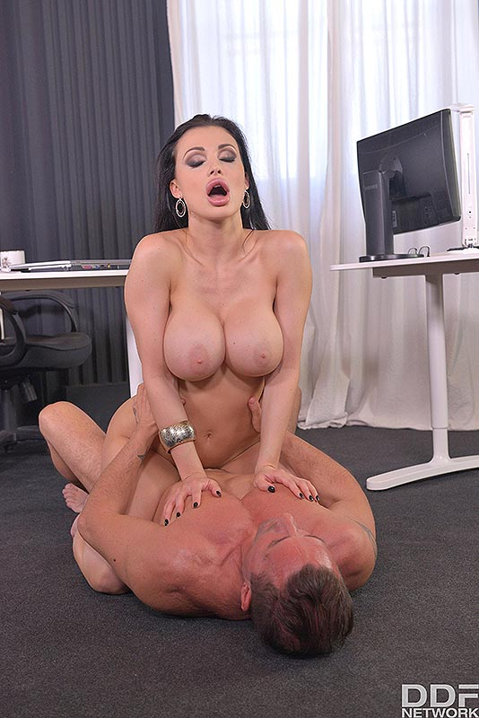Unforeseen Fulfillment: Busty Coworker's Tits Fucked Hard