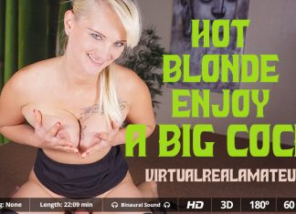 Hot blonde enjoy a big cock