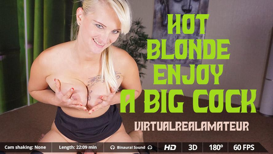 Hot blonde enjoy a big cock