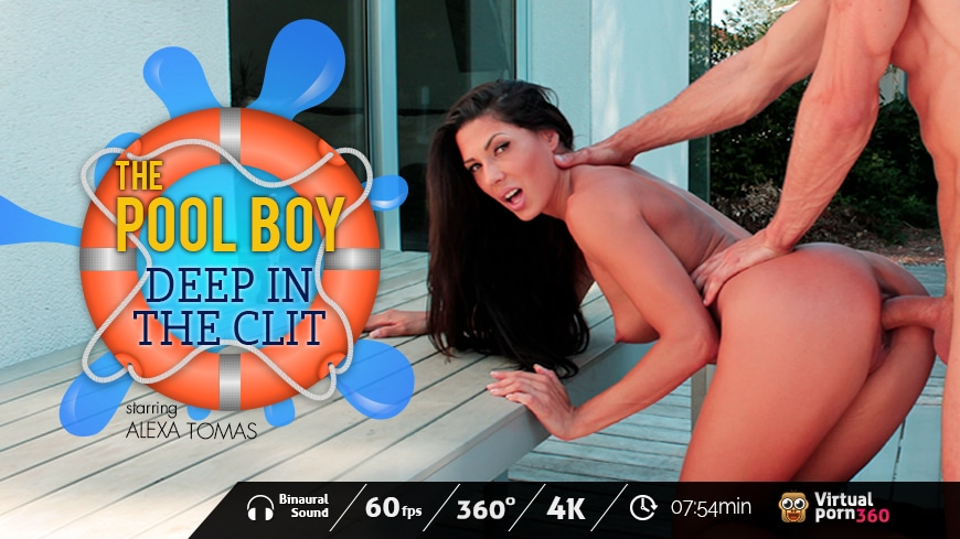 The Pool Boy: Deep in the clit