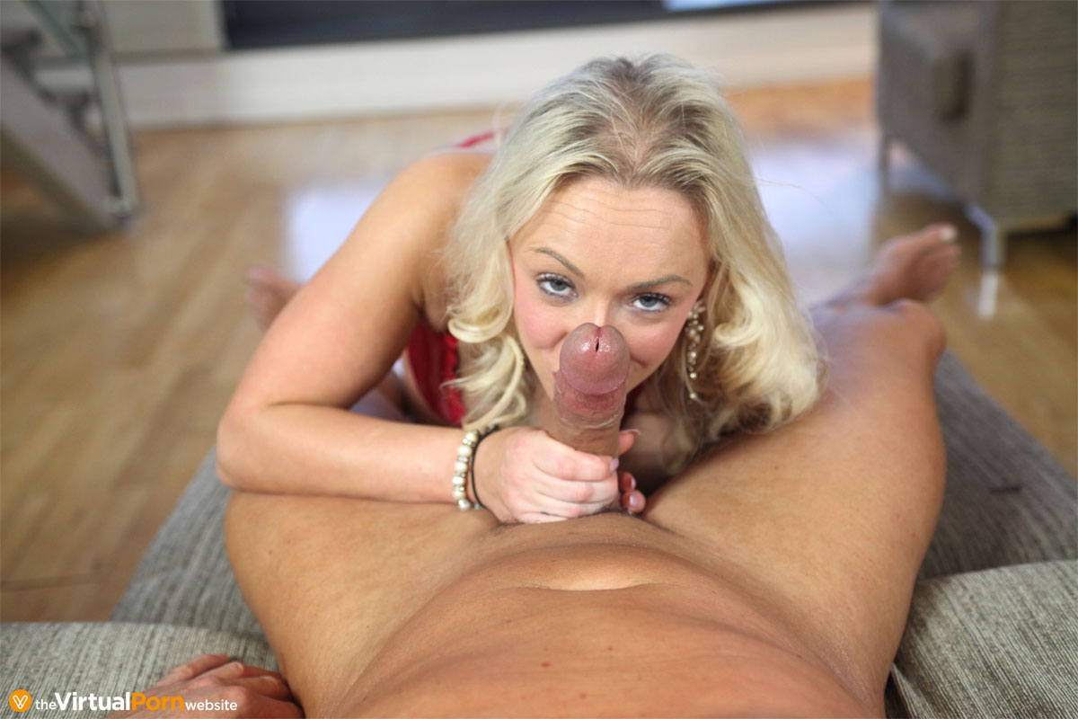 Sexy Blonde Rides Huge Cock