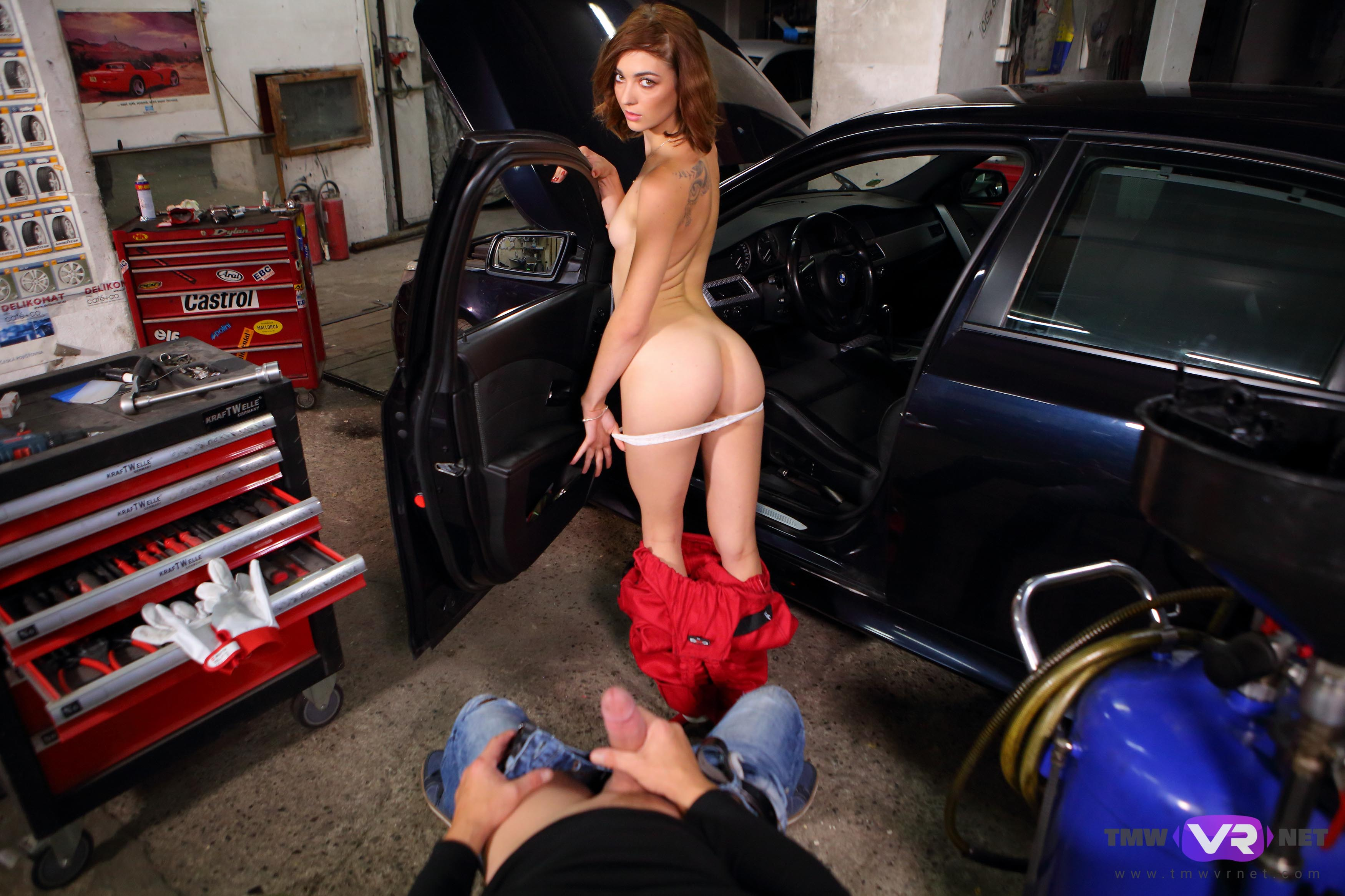 Hot Car Mechanic Offers Extra Sex Services