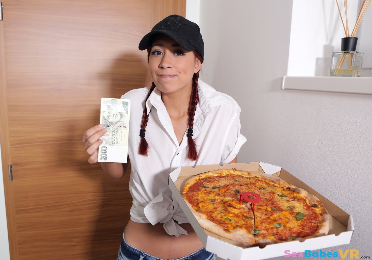 Cheeky Pizza Girl
