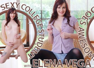 Sexy College Student Does Awesome Solo