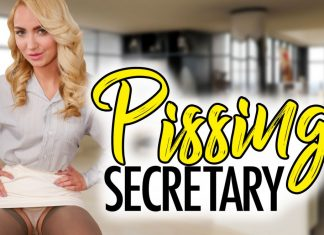 Pissing Secretary starring Victoria Puppy