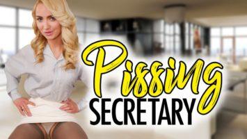 Pissing Secretary starring Victoria Puppy