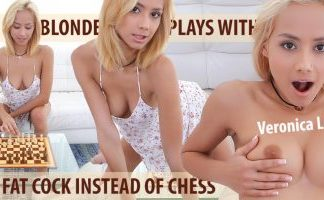 Blonde Plays with a Fat Cock Instead of Chess