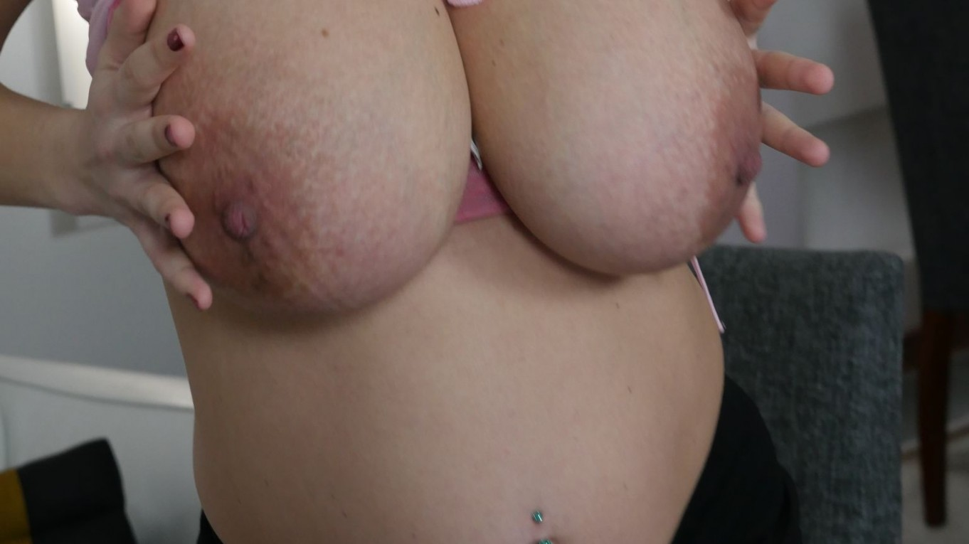 Knocked Up Knockers Katerina the 34 HH Boob Secretary