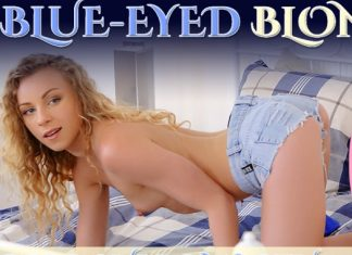 Blue-Eyed Blonde Discovers Masturbation
