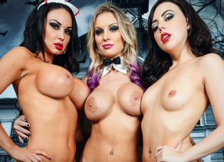 "Kenzie Taylor, Whitney Wright, Brooke Beretta in ""Halloween Sluts"""