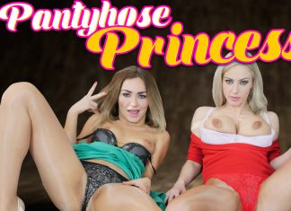 Pantyhose Princesses Nathaly Cherie and Victoria Puppy