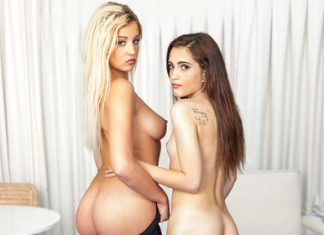 "Brooke Haze, Sophia Lux in ""Yoga Sluts"""