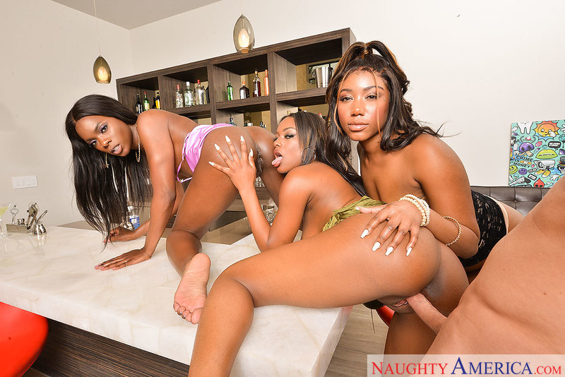 "Ana Foxxx, Chanell Heart, Evi Rei in ""The Chocolate Bar"""