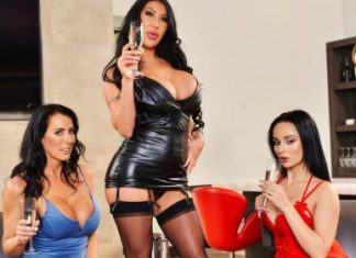 "August Taylor, Crystal Rush, Reagan Foxx in ""The Milf Bar"""