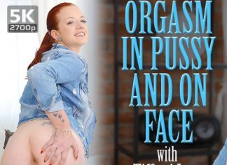 Orgasm in pussy and on face