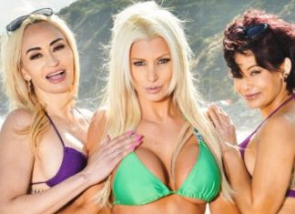"Brittany Andrews , Claudia Valentine , Ryder Skye in ""Summer Vacation 2"""