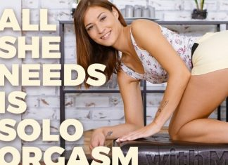 All she needs is solo orgasm