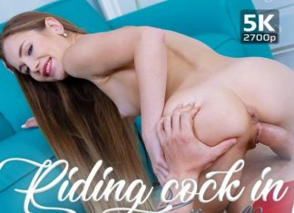 Riding cock in panties