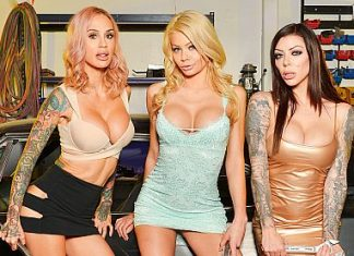 "Karma Rx, Riley Steele, Sarah Jessie in ""The Mechanic"""