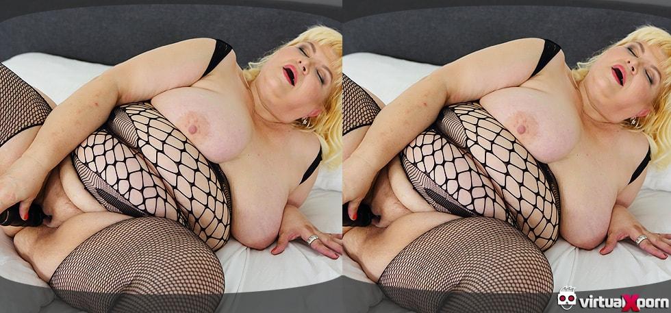 Hot Blonde Dildo Masturbation