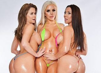 "Emily Addison, Nina Elle, Rachel Starr in ""Big Wet Tits"""