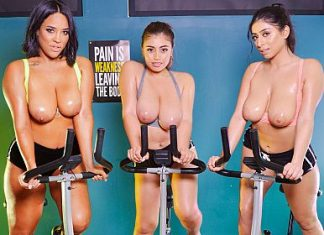 "Ella Knox, Sahara Leone, Violet Myers in ""Big Tits Gym"""