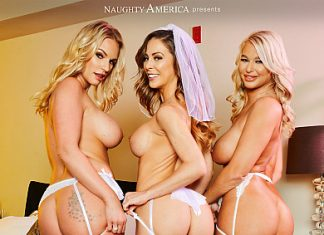 "Cherie DeVille, London River, Rachael Cavalli in ""Wedding Orgy 2"""