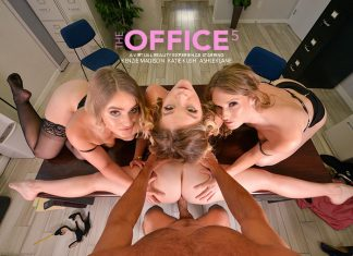 "Kenzie Madison, Katie Kush, Ashley Lane in ""The Office 5"""