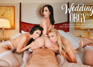 "Chanel Grey, Diana Grace, Judy Jolie in ""Wedding Orgy 4"""